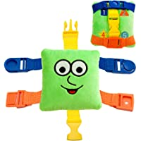 Buckle Toy - Mini Buster Square - Learning Activity Toy - Develop fine Motor Skills - Compact Travel Size