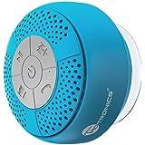 TaoTroncis Altavoz Bluetooth Ducha Impermeable Inalámbrico con Ventosa (A2DP Estéreo, IPX4, hasta 6 Horas de Reproducción) Baño, Piscina (Azul)