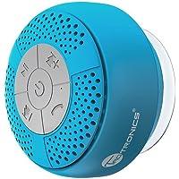 TaoTronics Altavoz Bluetooth Ducha Impermeable Inalámbrico con Ventosa, A2DP Estéreo, IPX4, hasta 6 Horas de Reproducción para Playa, Ducha, Viaje y más