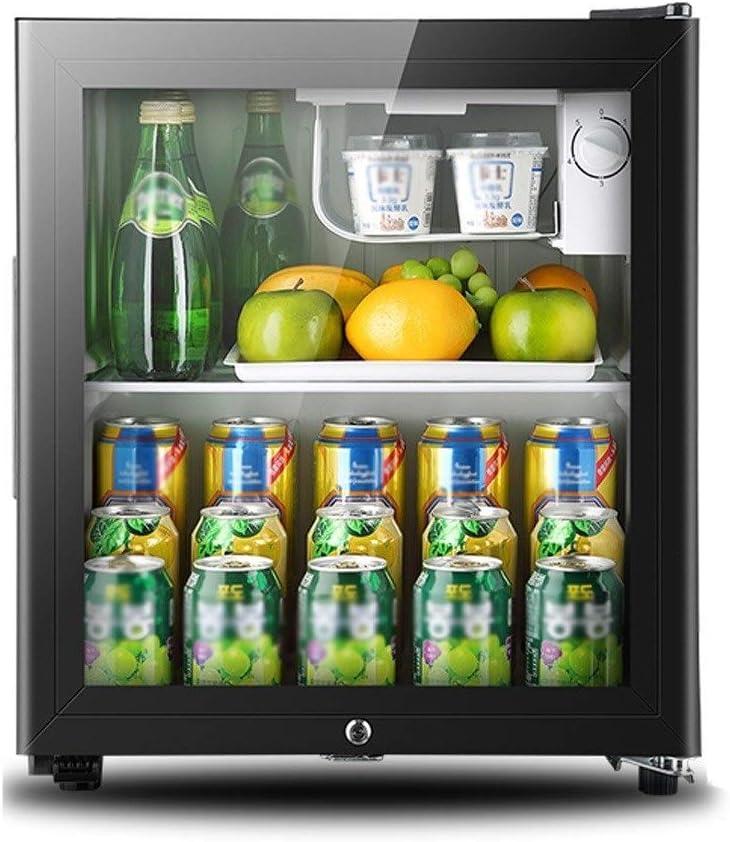 ZSEFV Portable Beverage Cooler, Bar Refrigerator Glass Display Bottle Cooler Perfect for Your RV, Playroom