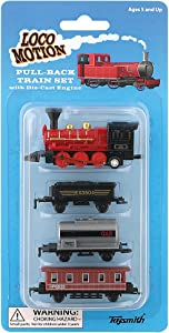 Toysmith 7041 Mini Pull-Back Train Set (Assorted Styles)