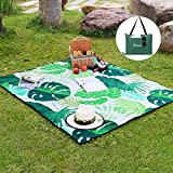 WolfWise 70'x59' Large Picnic Blanket Water Resistant Beach Blanket Machine Washable Outdoor Blanket Folds into a Tote Bag