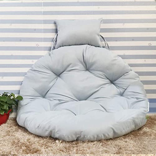 Lovehouse Hanging Egg Hammock Chair Cushion pad and Pillow, Swing Seat Cushion Thick Round Rocking Chair Cushion Replacement Cushion-Gray 105cm 41inch