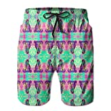 Breast Cancer Graphic Men's Basic Watershorts L With Pocket