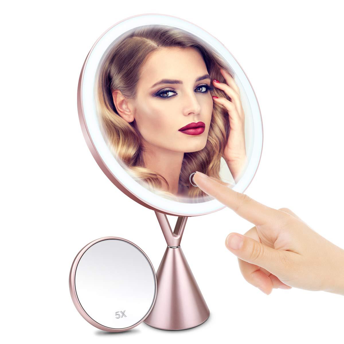 Specchio per trucco 5x trifold