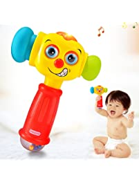 Amazon baby toddler toys toys games push pull toys baby toys for 12 18 months funny changeable hammer with multi functionlights negle Gallery