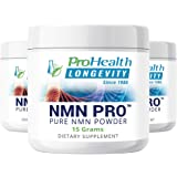 ProHealth NMN Pro Powder 3-Pack (15 Grams per jar) Nicotinamide Mononucleotide | NAD+ Precursor | Supports Anti-Aging, Longevity and Energy | Non-GMO