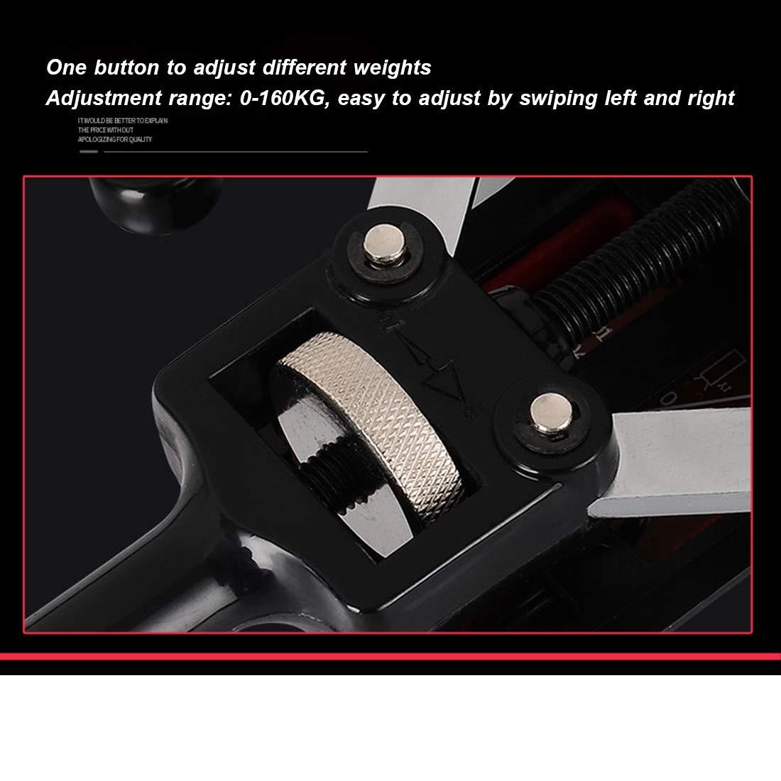 Chest Expander Muscle Exerciser Adjustable Brazo de Entrenamiento con Pesas Power Twister Bar Equipo de Ejercicios para el hogar m/úsculos del Pecho de Entrenamiento,10KG-160KG Ajustable con Monitor