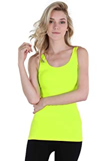 ac923217cf317 Amazon.com: NIKIBIKI Women Seamless Plain Jersey Tank Top, One Size ...