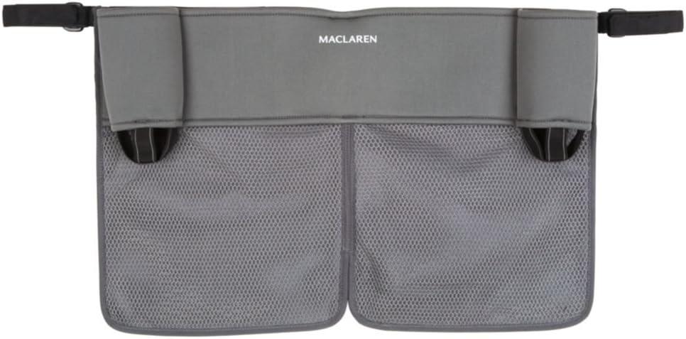Maclaren Organizador Universal Twin para Tener Lo Esencial Siempre a Mano, Se Adapta a Maclarens y Mayoría de las Marcas, Accesorio Ideal para Sillas de Paseo, Multicolor (Charcoal/Charcoal)