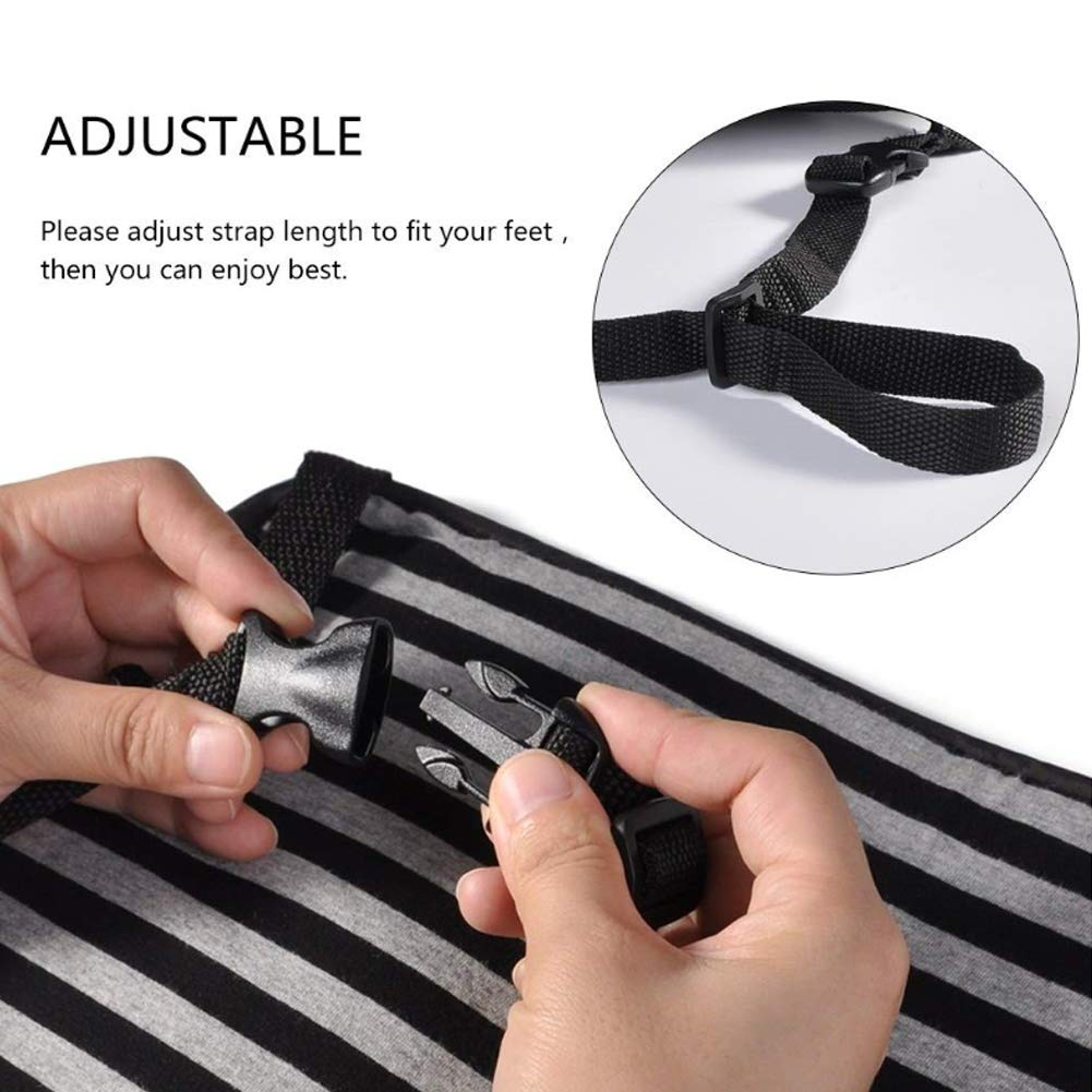 Foot Rest Adjustable Office Foot Rest Prevent Swelling and Soreness Foot Hammock DYWOZDP Sleepy Ride Airplane Travel Accessories Airplane Footrest Made