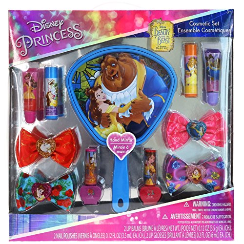 (Townley Girl Beauty and The Beast Cosmetic Set with Mirror (Includes Water Based Nail)