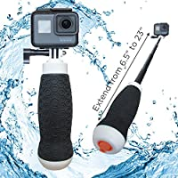 Waterproof Extendable Hand Grip + Floating GoPro Pole 6.5 - 23 (For Hero 6, Hero 5, Hero 4, Session and Fusion)   FLOW by MicroJib
