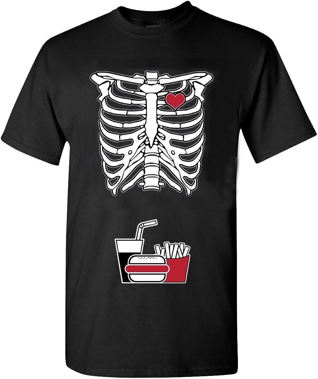 Skeleton Junk Food DT Adult T-Shirt Tee
