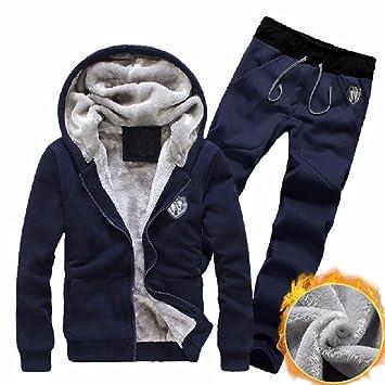 Chándal de otoño Invierno Hombre Amlaiworld Sudadera con Capucha Deportiva Chaqueta Abrigo Outwear + Pantalones Deportiva Leggings Conjunto de Trajes: ...