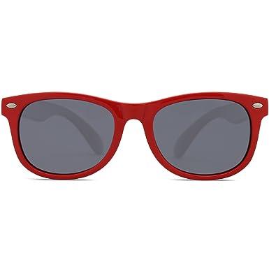 SOJOS Kinder Wayfarer Flexible Silikon gummiert verspiegelt Sonnenbrille für Jungen und Mädchen SK205 mit Rosa Rahmen/Blau Linse 8zYq9SnPY