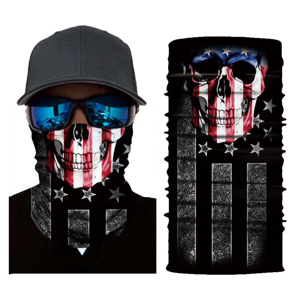 Unique Riding Mask Cycling Motorcycle Neck Tube Ski Scarf Face Mask (A)