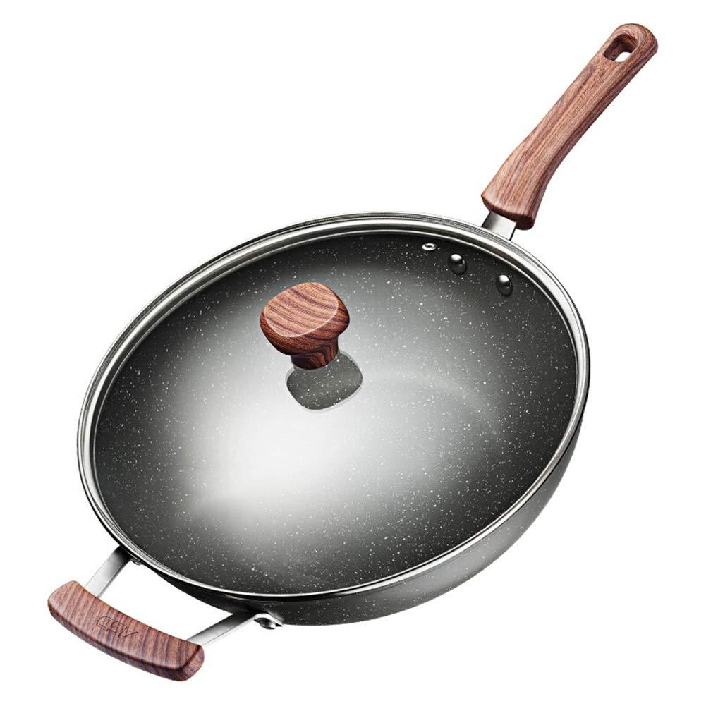 炒める鍋パンソースプレート鉄板鍋ノンスティック鍋多層コンポジット合金ポット直径30cmマイフォンストーンコーテッドウォークすべての種類のストーブ用 HAIMING (サイズ さいず : Diameter 32 cm) Diameter 32 cm  B07RKS6DVL