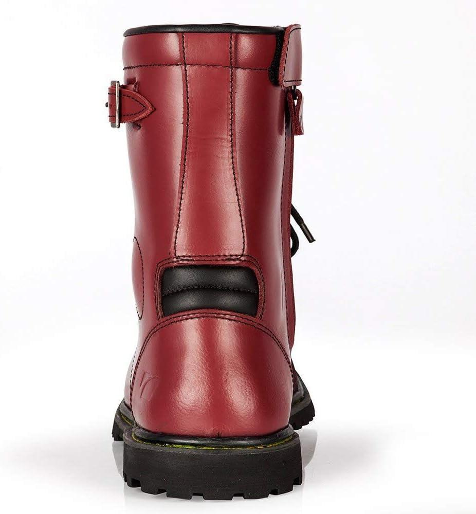 37 EU rot Braun Spada Pilgrim Grande Wasserfestes Motorrad Stiefel