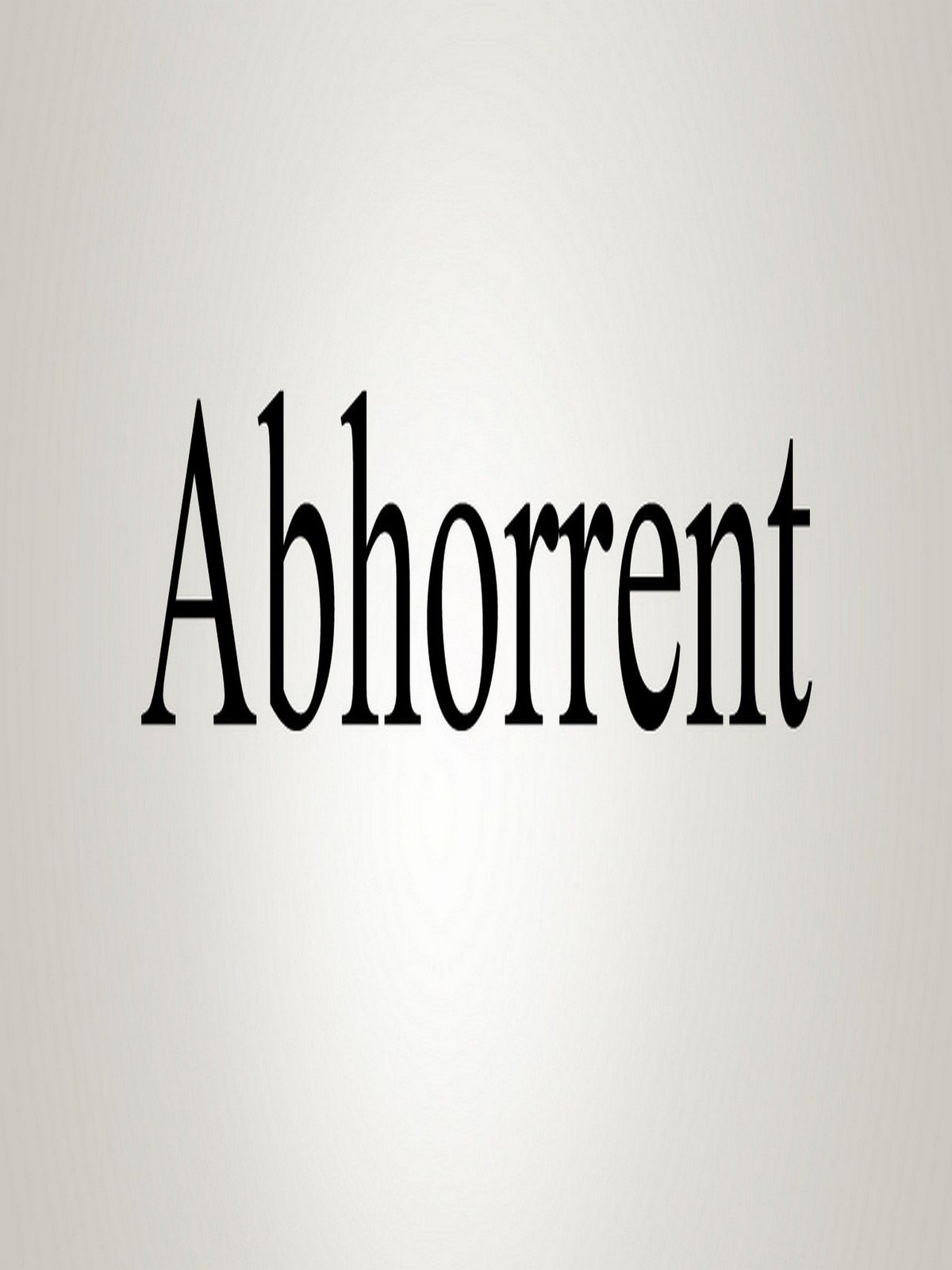 Watch How To Pronounce Abhorrent  Prime Video