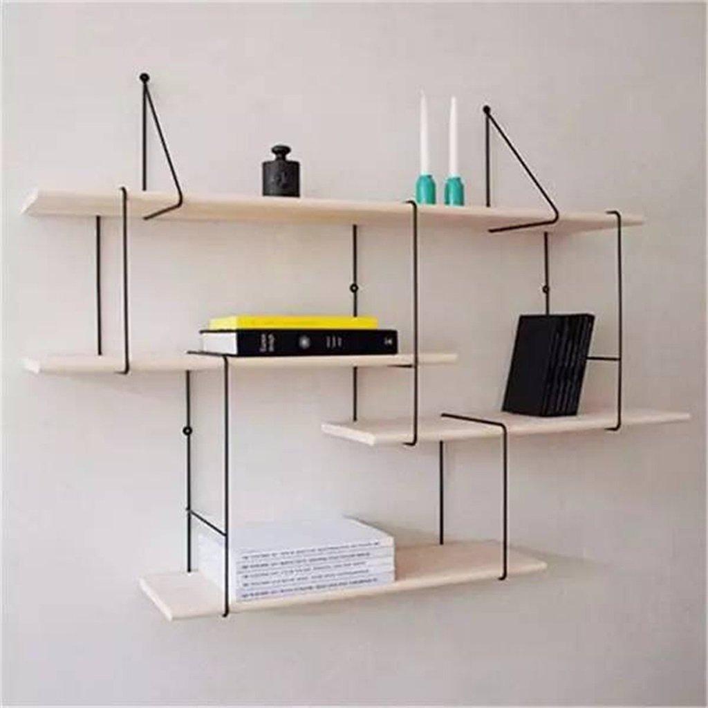 YCT 北欧のシンプルな棚、創造的な仕切り壁の棚、純木の棚、部屋の装飾の棚。棚 B07RK97XCK