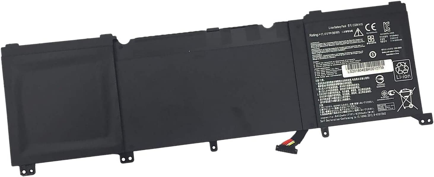 7XINbox 11.4V 96Wh C32N1415 Replacement Laptop Battery for Asus N501 N501VW ROG G501 G501VW G501JW ZenBook (Pro) UX501JW UX501LW UX501VW 0B200-01250000