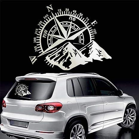 Yunhigh Etiqueta engomada del Coche Compass Rose Navigate Mountain 4x4 calcomanía de Etiqueta de Vinilo Offroad: Amazon.es: Coche y moto