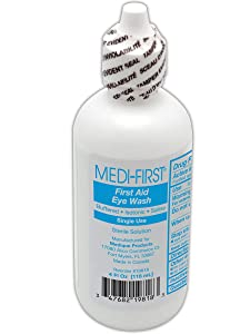 Medi-First Eye Irrigation Solution   4 Ounce Plastic Bottle