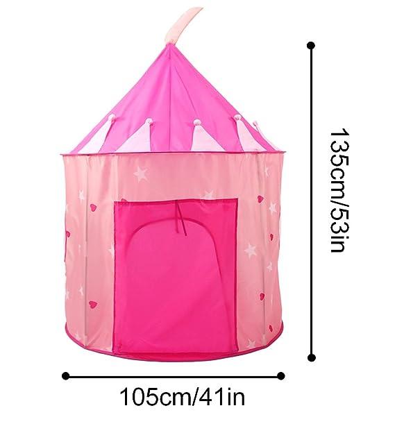 Carpa plegable, WER tienda campaña infantil para niños/ casa de juego en forma de castillo: Amazon.es: Electrónica
