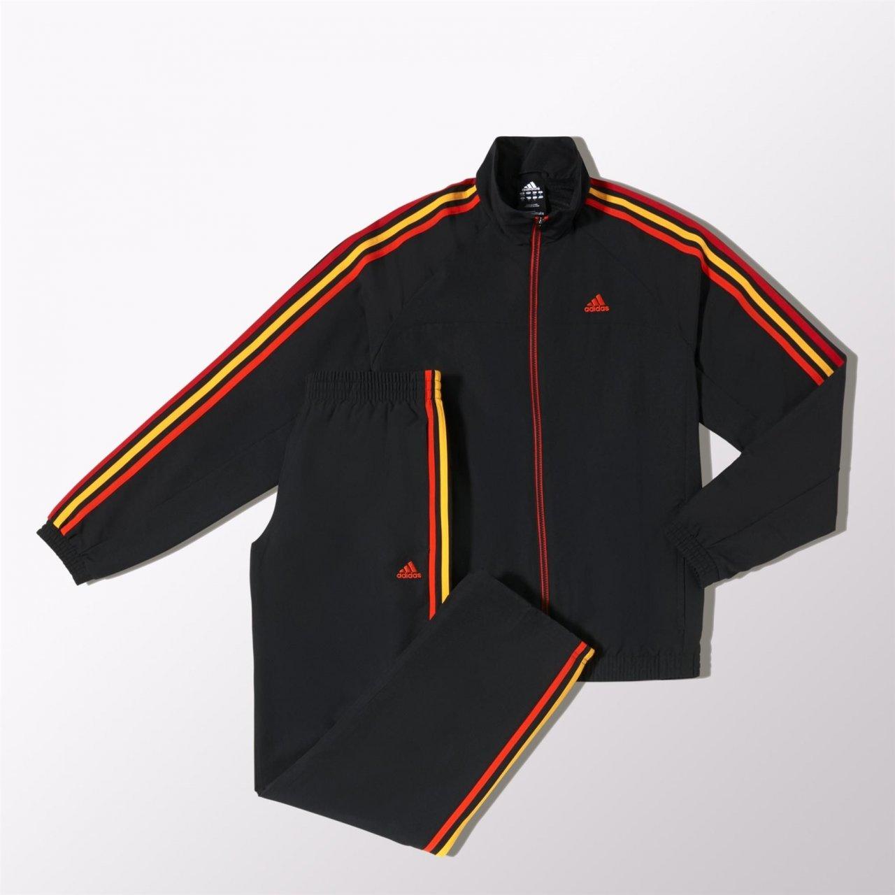 adidas Ess 3S - Chándal para hombre, color negro y naranja black ...
