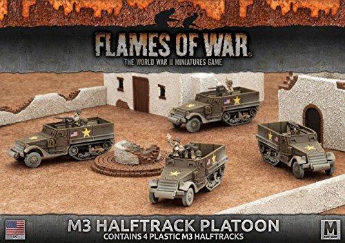 Flames Of War (WWII): (USA) M3 Halftrack Platoon