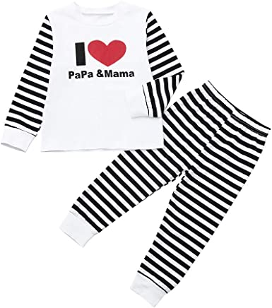 My 1st Christmas Outfit Infant Toddler Baby Girl Boy Winter Clothes 2pc Romper Bodysuit+Pants Pajamas Set Kehen