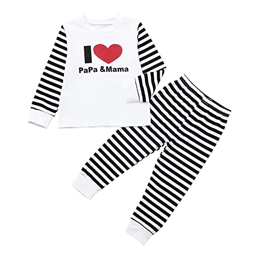 657acbf70c96 Kehen Infant Newborn Baby Pajamas Girl Boy Summer Spring Clothes 2pc  Romper+Pants Pant Sets