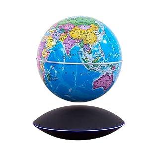 Hplights Mappamondo Magnetico levitante, Globo terrestre Anti-gravità,6 Pollici
