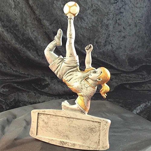 (Engraved Female Soccer Trophy (3-Pack))