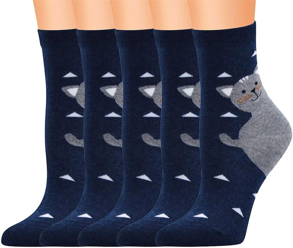 QinMMROPA 5 pares calcetines largos anime de algodón para mujer ...