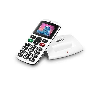 SPC Symphony - Teléfono móvil (Dual SIM, Número y Letras Grandes, 5 números SOS, Radio FM, Cámara), Blanco