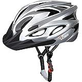 JBM Adult Cycling Bike Helmet for Men Women (18 Colors) Black/Red/Blue/Pink/Silver Adjustable Lightweight Helmet with Reflect