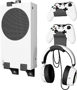 GENIALISS Base Xbox Series S + Base para Controles de Xbox ONE / Soporte de pared para Consola y Controles / Xbox ONE X y S / Series S / Base para Audifonos Universal