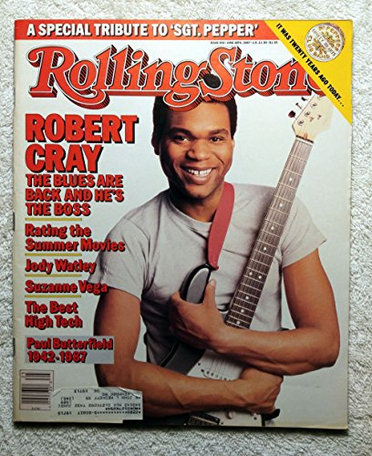 Robert Cray - Boss of The Blues - Rolling Stone Magazine - #502 - June 18, 1987 - A Special Tribute to Sgt. Pepper, Jody Watley, Suzanne Vega articles ()