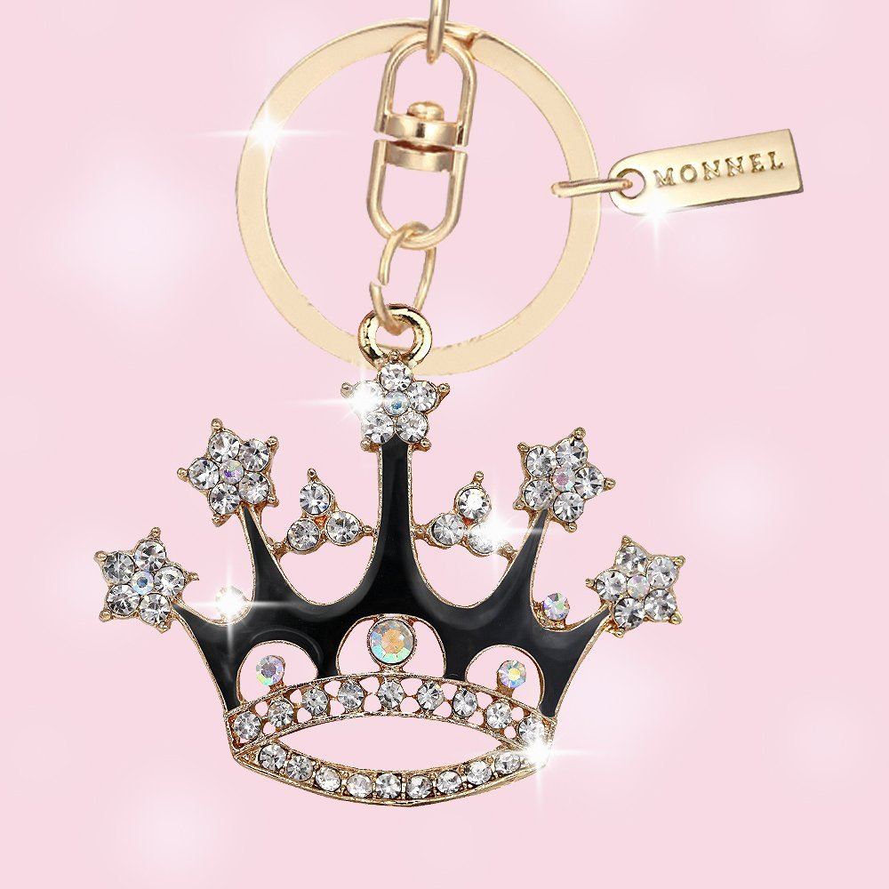 Bling Bling Crystal Black Queen Crown Keychain Creative Packaging Design Box MZ857-5