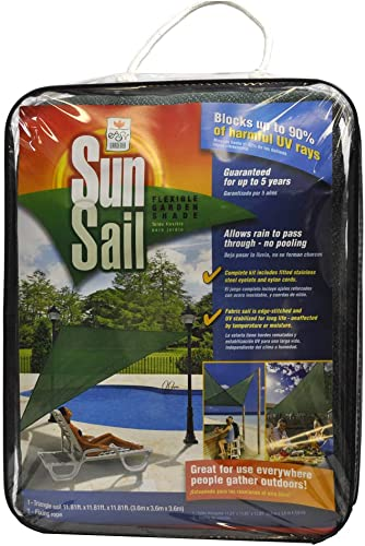 Easy Gardener Sun Sail Triangle Sun Shade 5 Year Sun Shade