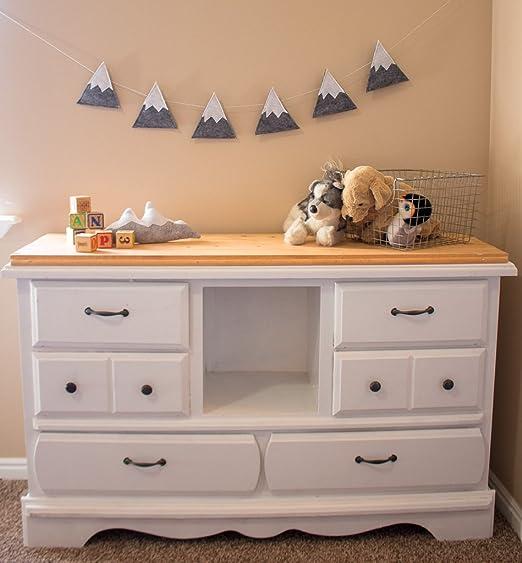 Handmade felt baby//child/'s white /& grey cloud nursery bunting//garland