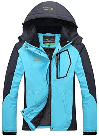 Sawadikaa Women S Outdoor Waterproof Mountain Fleece Plus Size Ski