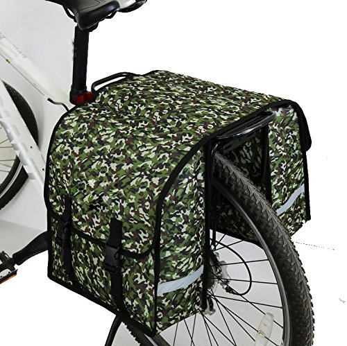 MASLEID Fahrrad Gepäckträger Tasche verschleißfesten Oxford doppelseitige Tragetasche Gepäckträgertasche