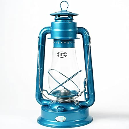 Dietz 80 Blizzard Hurricane Oil Lamp Burning Lantern Blue