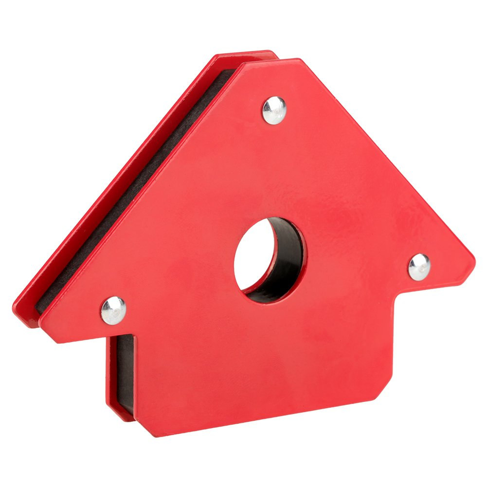 Im/án 25LBS Color Rojo Utilizado como Soporte y Posicionador en Soldadura marcado Instalaci/ón de Tuber/ías Soporte de Soldadura Magn/ética Posicionador de Soldadura Acero