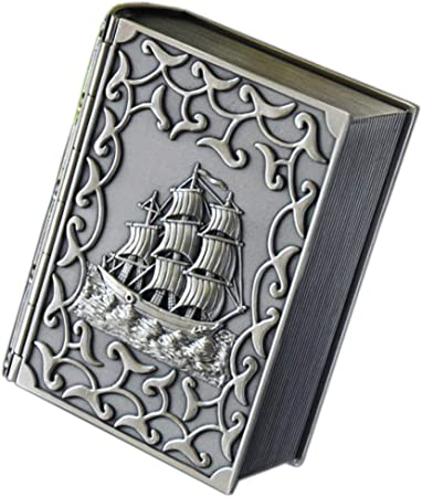 leiqin - Caja Decorativa de Tesoros con Forma de Libro Grabado, Caja de Almacenamiento para cosméticos: Amazon.es: Hogar