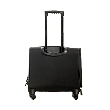 Velez Men Vintage Genuine Colombian Leather Vintage Luxury Spinner Suitcase Roller Carry on | Maletas y