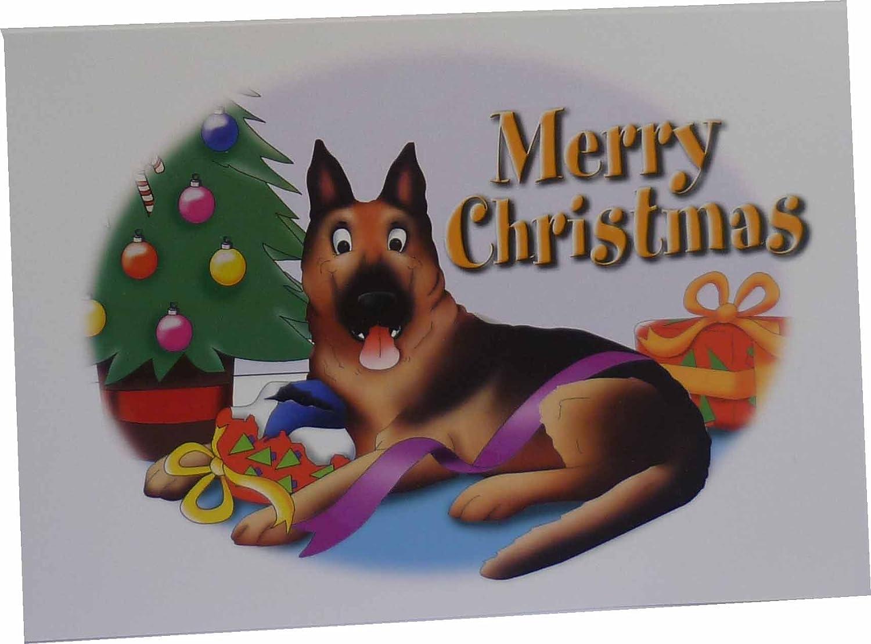 German Shepherd Dog Christmas Cards 10 Cards Amazon
